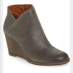 Lucky Brand Yakeena Wedge gray Booties